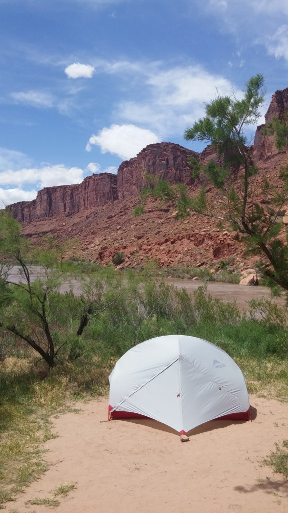 Camping by the Colorado river!