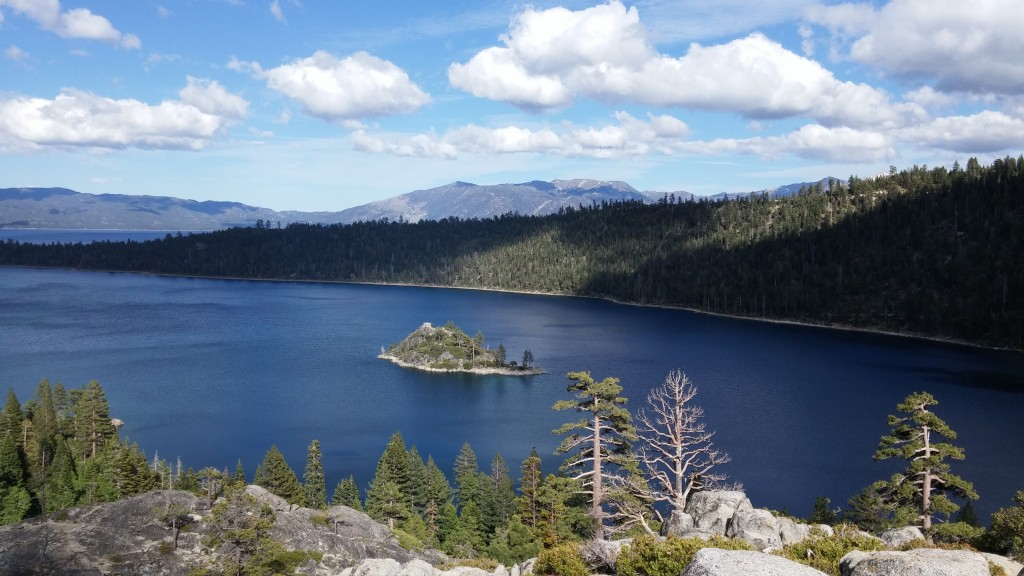 Redfish Lake - hiked up for this vista point