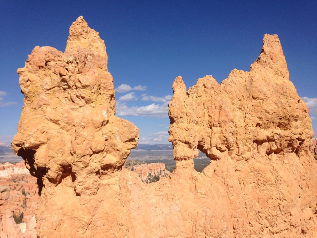 Close up of the hoodoos