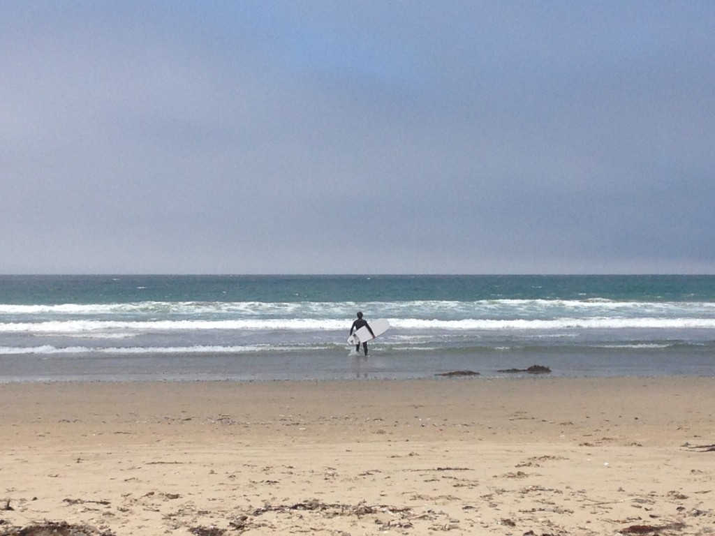 Tom all set to hit the Surf - Pismo beach